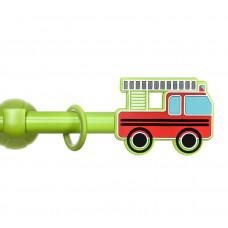 Карниз «Пожарная машина зеленый»