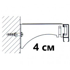 Универсальный замок крепления (стена,потолок) L=4 см. для профилей «СТ-41» ,«СТ-43»,«СТ-2005»,«СТ-2500»